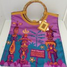 Walt Disney Enchanted Tiki Room Tote Bag 50th Anniversary Bamboo Theme Parks