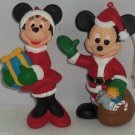 Walt Disney Company Mickey MInnie Mouse Ornament Christmas Holiday Lot of 2