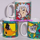 Looney Tunes Coffee Mug Bugs Daffy Tweety Bird Collector Cup Lot of 3 Great Gift
