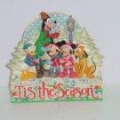 Walt Disney Jim Shore Mickey Minnie Donald Pluto Goofy Tis the Season Plaque