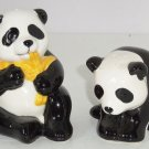 Giant Panda Bears Salt Peppers Shakers 1999 Sir Lanka Animal Collectible Vintage