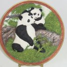 Panda Bear Collector Plate 3D Playful Interlude Vintage Bradford Exchange Nelson