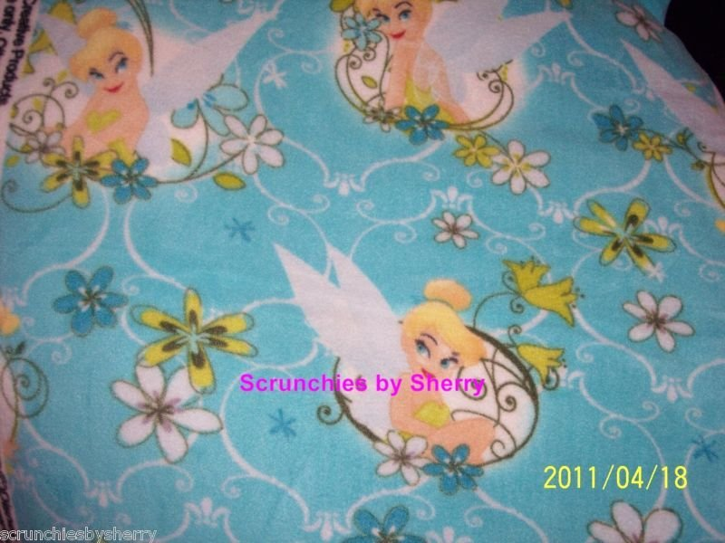 Disney Tinker Bell Blanket Aqua Hand Tied Fleece Baby Pet Lap Great Shower Gift