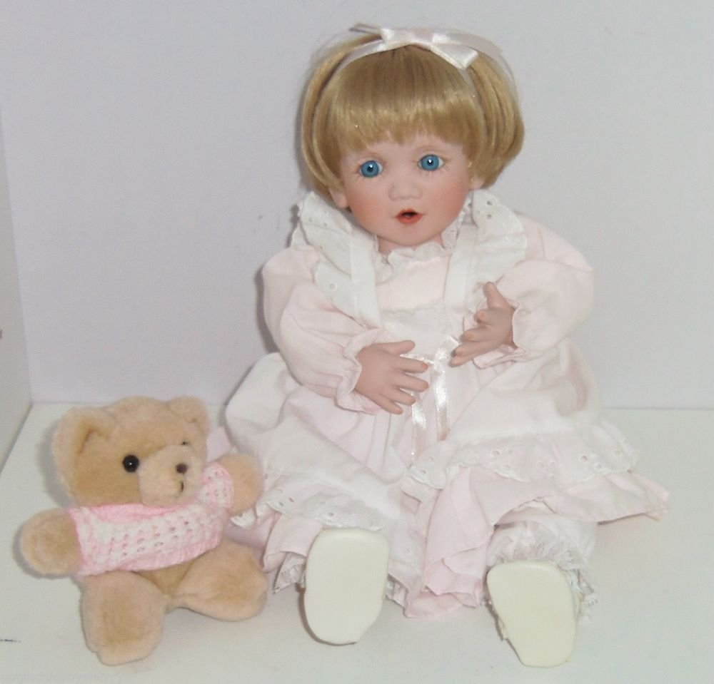 Michelle Doll Baby Kisses Georgetown Collection Porcelain Hand Painted Artist Ed