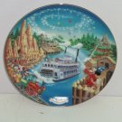 Walt Disney World Collector Plate 25th Anniversary Frontierland Bradford Retired