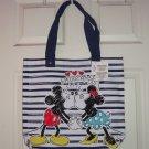 Disney Minnie Mickey Mouse Tote Bag Smooch Hearts Love Theme Parks NWTS