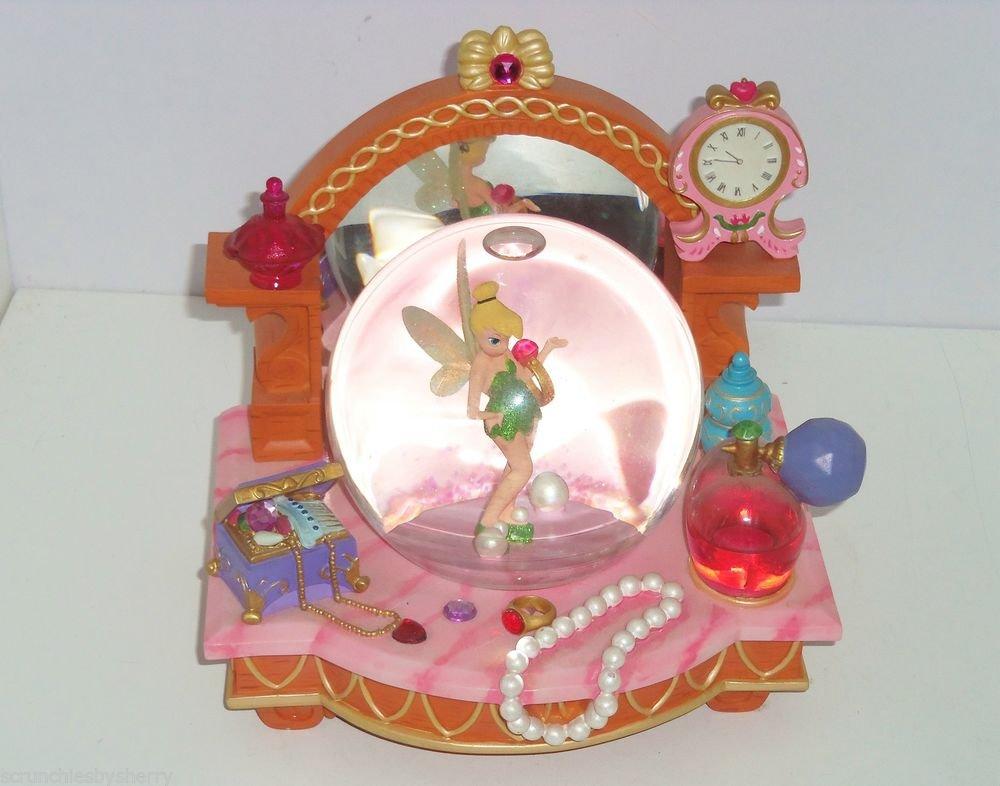 Walt Disney Tinker Bell Snowglobe Peter Pan Musical Jewels Perfume You Can Fly