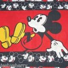 Disney Mickey Mouse Twin Sheet Fitted Flat 2 Pillowcases Window Valance Red