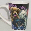 Collie Hound Dog Black Lab Spaniel Coffee Mug Puppy Floral Tea