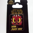 Disney Star Wars Join the Duck Side Trading Pin Theme Parks New Carded