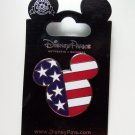 Disney Patriotic Flag Face Mickey Mouse Trading Pin Theme Parks New Carded