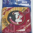 4 Florida State Seminoles FSU  Coasters Team Mouse Coaster Club NIP