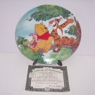 Disney Winnie Pooh Collector Plate Tree Top Trio Fun 100 Acre Woods Bradford Exc