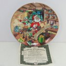 Disney Mickey Mouse Collector Plate  Holiday Magic Naughty Nice Bradford Retired