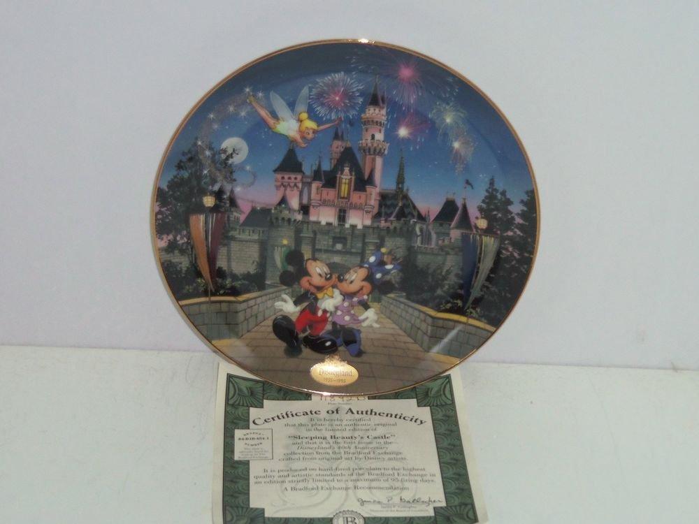 Disneyland Sleeping Beauty Castle Collector 40th Anniversary Plate Bradford Exch