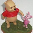 Disney Winnie Pooh Piglet Figurine Let's wander and wonder together Freinds