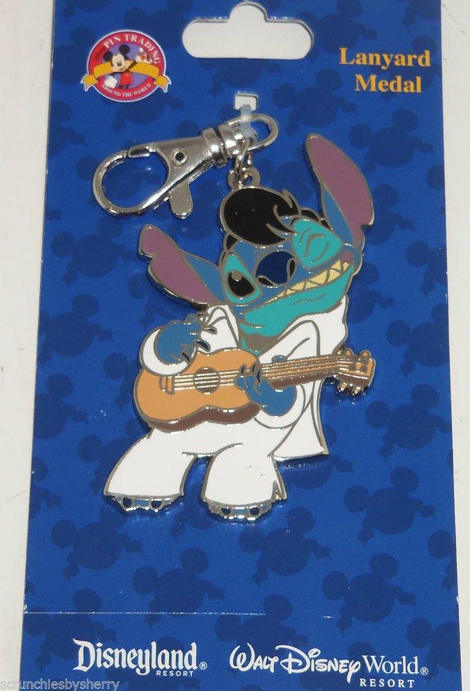 Disney Stitch Lanyard Metal Guitar Trading Pins Theme Parks