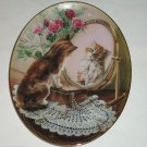 Cat Kitty Collector Plate Fairest of All Mirror Roses Jewelry Bradford Exchange