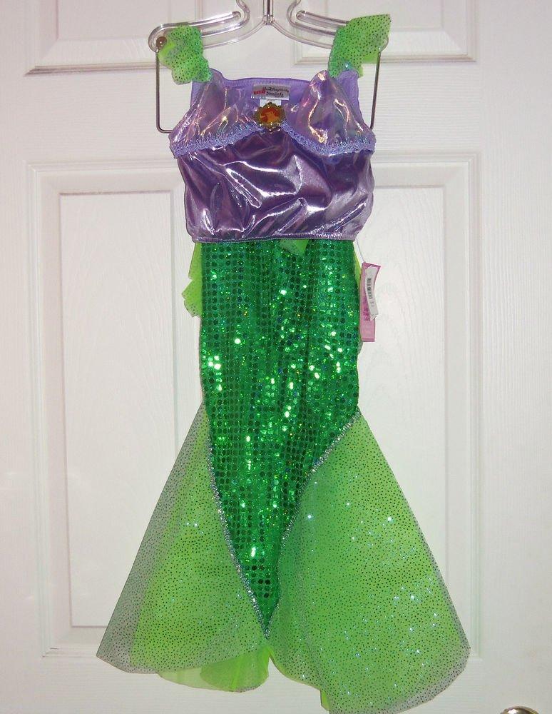 Disney Ariel Mermaid Costume Princess Fancy Theme Park Size XS 4-5 New