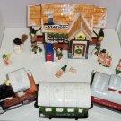 Dept 56 Train Station Snow Village 3 Piece Train Mailbox 8 Fitz Floyd Figurines