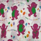 Barney Twin Flat Sheet Vintage Craft Sewing Fabric Purple Dinosaur Kids