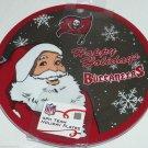 4 Tampa Bay Buccaneers Dinner Plate Melmac NFL Malemine Christmas Santa Holiday