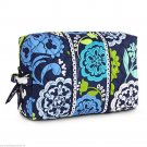 Disney Vera Bradley Where's Mickey Large Cosmetic Bag Blue Lime Green New