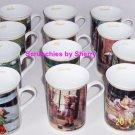 12 Hummel  Porcelain Collector Coffee Mug Jan Dec Mugs Danbury Mint