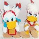 Disney Theme Parks Daisy Donald Duck Frontierland Plush Toy Indians Bean Bag