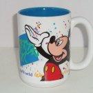 Walt Disney World Mickey Mouse Coffee Tea Mug Cup Ceramic White Blue