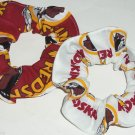 Washington Redskins Fabric Hair Scrunchies Ties NFL Set of 2