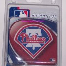 Philadelphia Phillies Coasters Baseball 4-Pack Glass Can Bottle MLB