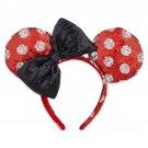 Disney Parks Minnie Mouse Headband Ears Sequins Polka Dot 2017