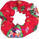 Disney Christmas Mickey & Friends Fabric Hair Scrunchie Scrunchies by Sherry