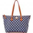 Dooney & Bourke Tampa Bay Rays Zip Top Shopper Handbag Purse Bag