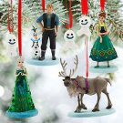 Disney Store Frozen Fever Ornament Set Anna Elsa Olaf Sevn Kristoff New 2015