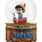 Disney Store Pinocchio and Jiminy Cricket Snowglobe Music Lighted 2016 New