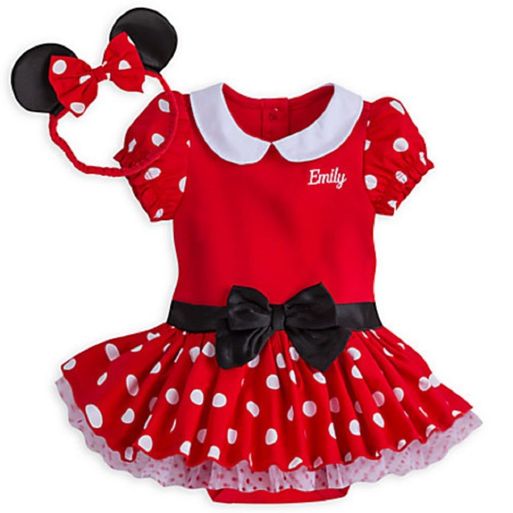 Disney Store Minnie Mouse  Baby Bodysuit Costume Dress 3-6 Months