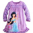 Disney Store Jasmine Nightshirt Nightgown Princess Long Sleeve Purple 5/6