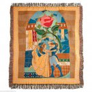 Disney Theme Parks Beauty and the Beast Throw Blanket Princess Belle