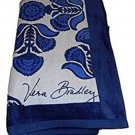 Vera Bradley Beach Towel Cobalt Tile Blue New
