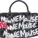 Disney Minnie Mouse Black Handbag Purse Red Polka Dot Bow Theme Parks New