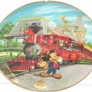 Disneyland Collector Plate 40th Anniversary Railroad Mickey Bradford Exchange