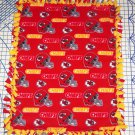 Kansas City Chiefs Red Fleece Baby Pet Dog Blanket