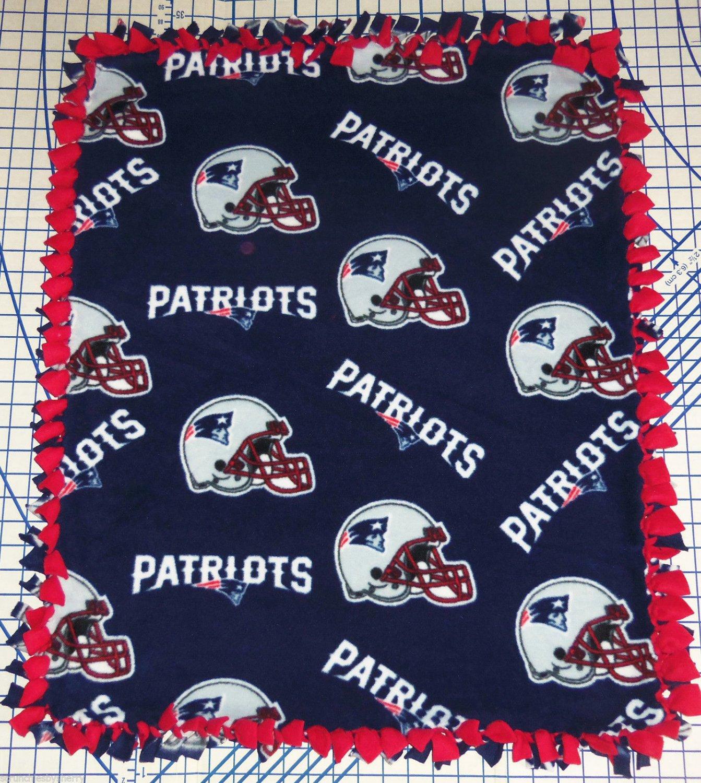 New England Patriots Blue Fleece Fleece Baby Pet Dog Blanket