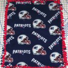 New England Patriots Blue Fleece Fleece Baby Pet Dog Blanket