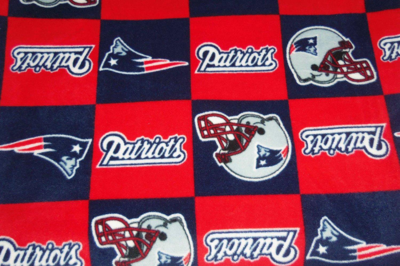 New England Patriots Patchwork Fleece Fleece Baby Pet Dog Blanket