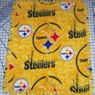 Pittsburgh Steelers Gold Tie-Dyed Fleece Baby Pet Dog Blanket