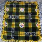 Pittsburgh Steelers Plaid  Fleece Baby Pet Dog Blanket