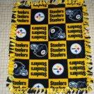 Pittsburgh Steelers Patchwork  Fleece Baby Pet Dog Blanket